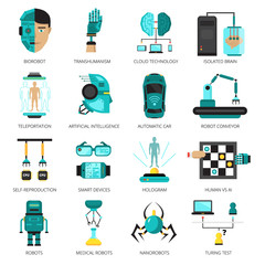 Artificial Intelligence Icon Set