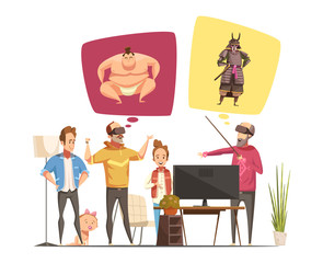 Family Hobbies Design Concept