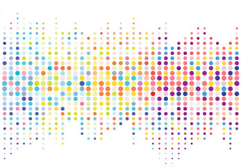 Abstract colorful halftone texture dots pattern. vector