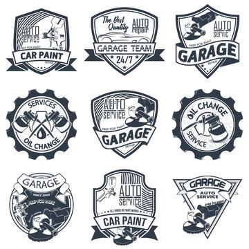 Set of nine auto repair