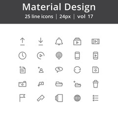 Material Design User Interface Icons