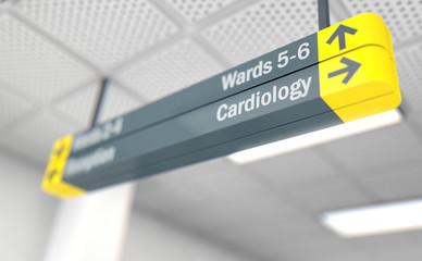 Hospital Directional Sign Cardiology
