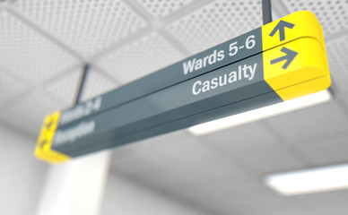 Hospital Directional Sign Casualty