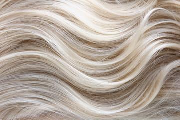 Female blonde curly  hair texture Wall mural