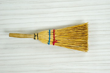 Straw broomstick