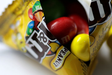 Illustration photo of M&M chocolates
