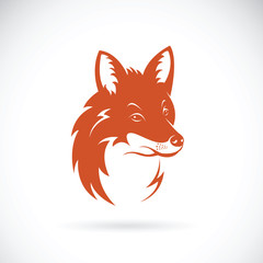 Vector of a fox head on white background, Wild Animals.