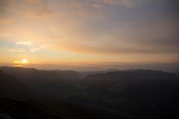 Sunset from the Watzmannhaus near Berchtesgaden