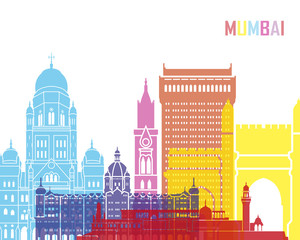 Wall Mural - Mumbai skyline pop