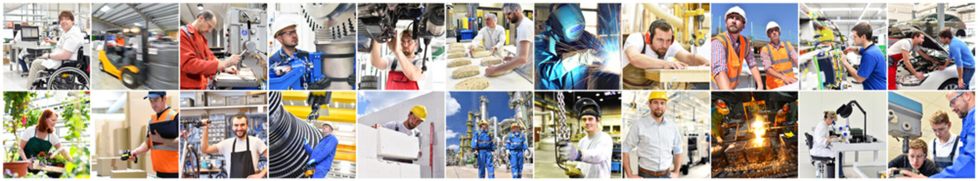 Berufe im Handwerk, Industrie & Dienstleistungssektor
