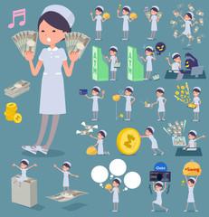 flat type Nurse wear woman_money