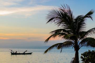 Kep sunset, Cambodia