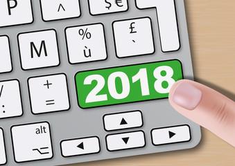 2018 - clavier d'ordinateur - présentation - objectif - carte de vœux - challenge