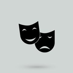 Theater masks. Vector art.