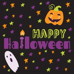 Set Halloween printable card