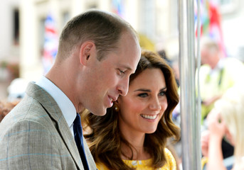 Prince William, the Duke of Cambridge, his wife Catherine, The Duchess of Cambridge visit Heidelberg