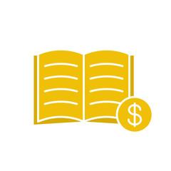 Buy book glyph color icon