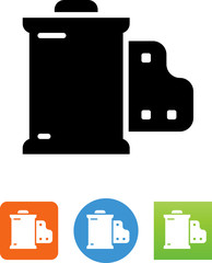 Camera Film Canister Icon