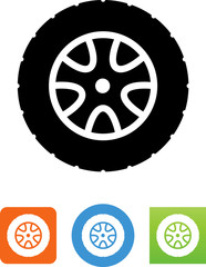 Car Tire And Wheel Icon