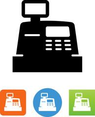 Cash Register Icon - Illustration