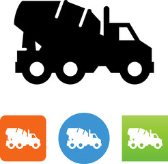 Cement Truck Icon - Illustration