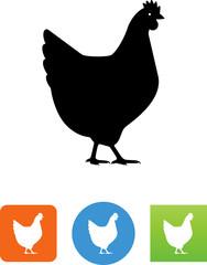 Chicken Hen Icon - Illustration