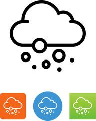 Cloud Snowing Icon - Illustration