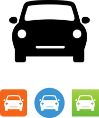 Compact Car Front View Icon - Illustration
