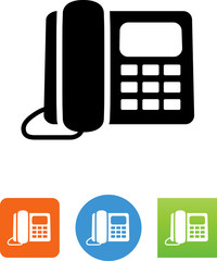 Desk Phone Icon - Illustration