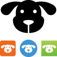 Dog Face Icon - Illustration