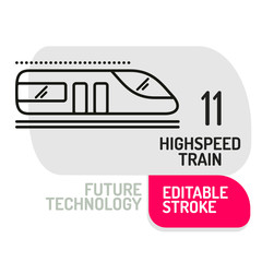 High speed train icon. Vector concept illustration for design
