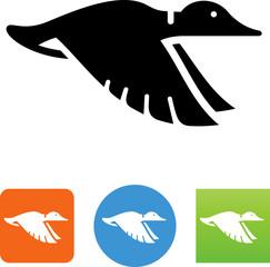 Duck Flying Icon - Illustration