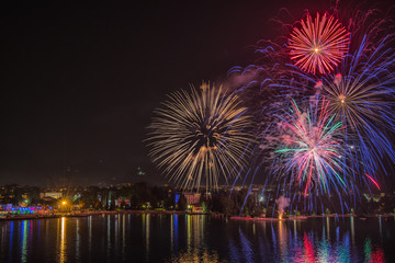 Fireworks Riva del Garda, italy