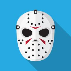Hockey mask icon vector flat design.