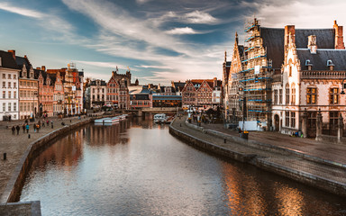 Stunning view of Ghent old city