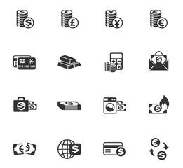 money symbols icon set