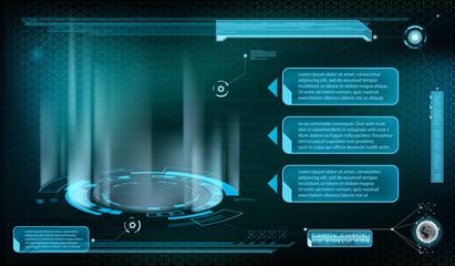 Design of HUD menu user interface.