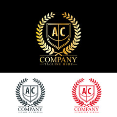 Initial Letter AC Luxury. Boutique Brand Identity