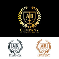 Initial Letter AB Luxury. Boutique Brand Identity