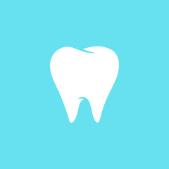 Tooth flat vector icon, tooth silhouette