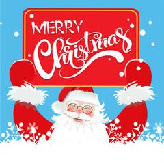 Merry Christmas, Cute Santa, Christmas Card