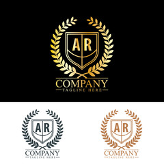 Initial Letter AR Luxury. Boutique Brand Identity