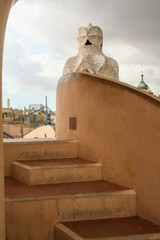 chimneys on the roof of casa mila
