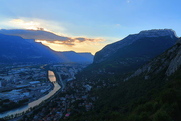 Grenoble sunset