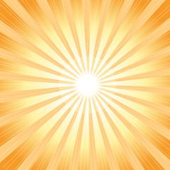 Vector brightly shining rays