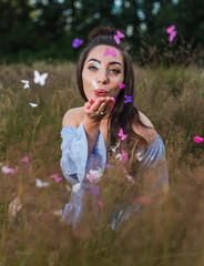 Blowing away the butterflies