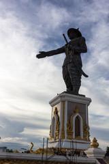 King Anouvong statue:ラオス・アヌウォン王像
