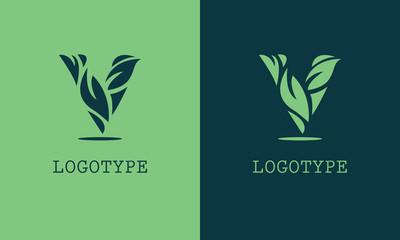 letter V leaf logo