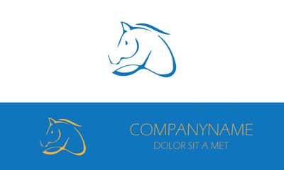 abstract horse logo
