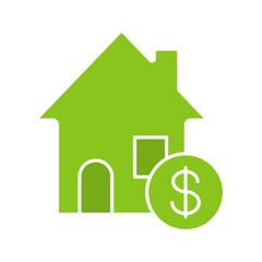 Real estate market glyph color icon